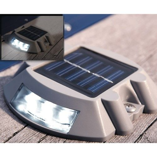 Swamp Boat With Lantern 8 17: Dock Edge Docklite Solar Rechargeable Dock And Deck Light