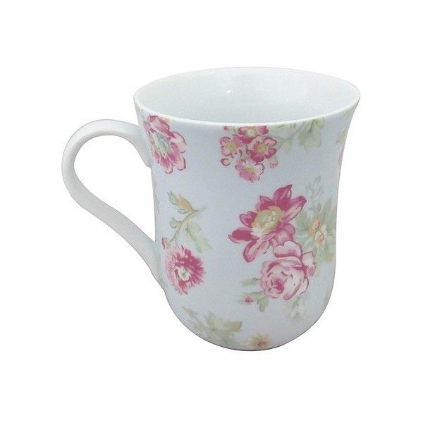 Simply Shabby Chic Floral Blue Mug ($7.99) ❤ liked on Polyvore featuring home, kitchen & dining, drinkware, blue, blue drinkware, mothers day mugs, floral mugs, blue mug and mom mug