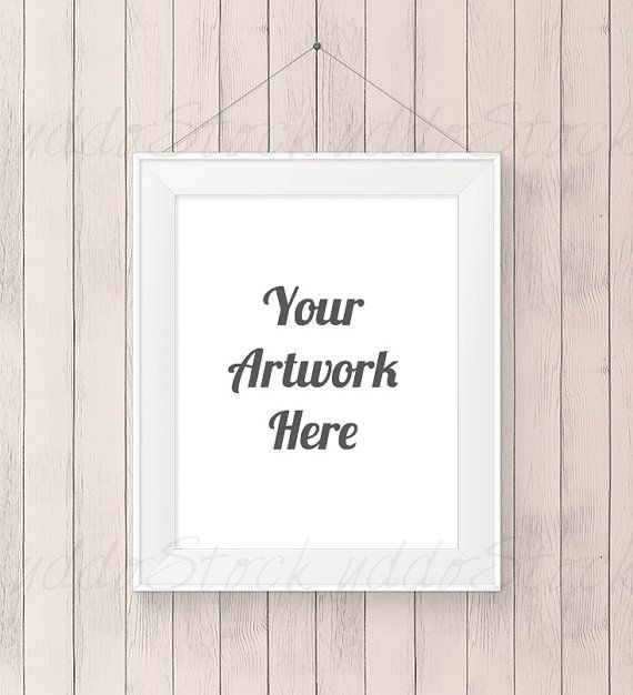 8x10 Beige Mockup Print Frame For Wall Art Display By