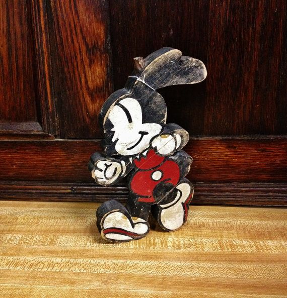 $295.00. Perfect for a plaque. #VINTAGE #OSWALD the LUCKY RABBIT, WOOD PLAQUE, PHONE, TOY PIECE?, #DISNEYANIA COLLECTIBLE. $295.00. Mytesoros www.etsy.com/listing/246758457