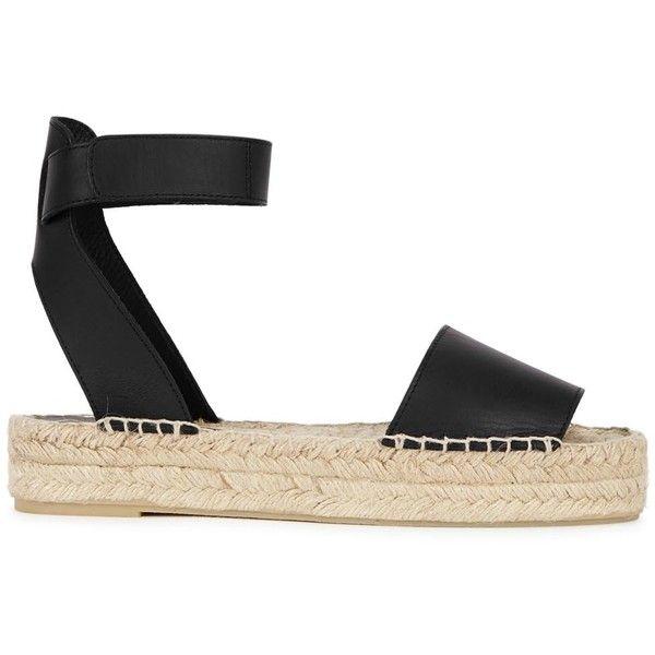 espadrille sandals, Leather espadrilles