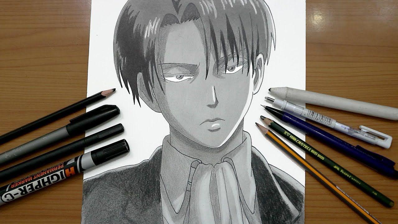 رسم ليفاي من انمي هجوم العمالقة تعلم واستمتع Art Anime Art Anime