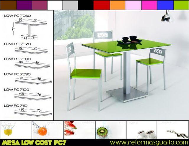 mesa de cocina cuadrada con una pata central - Buscar con ...