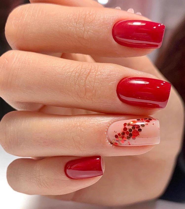 Pin By Barbara Kappeler On Nails Acrylic Nails Valentines Nails Red Nails