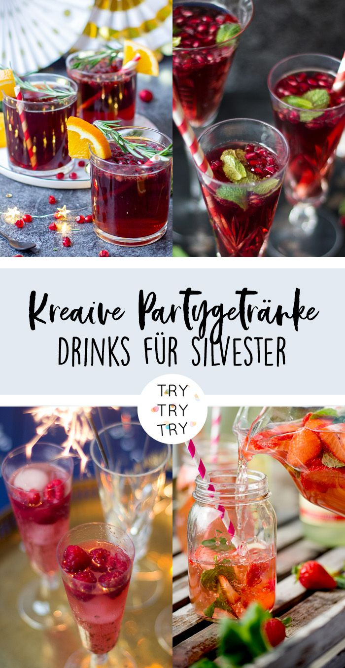 Photo of Creative party drinks – drinks for New Year's Eve