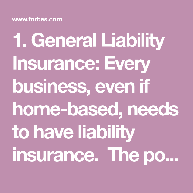 13 Types Of Insurance A Small Business Owner Should Have General
