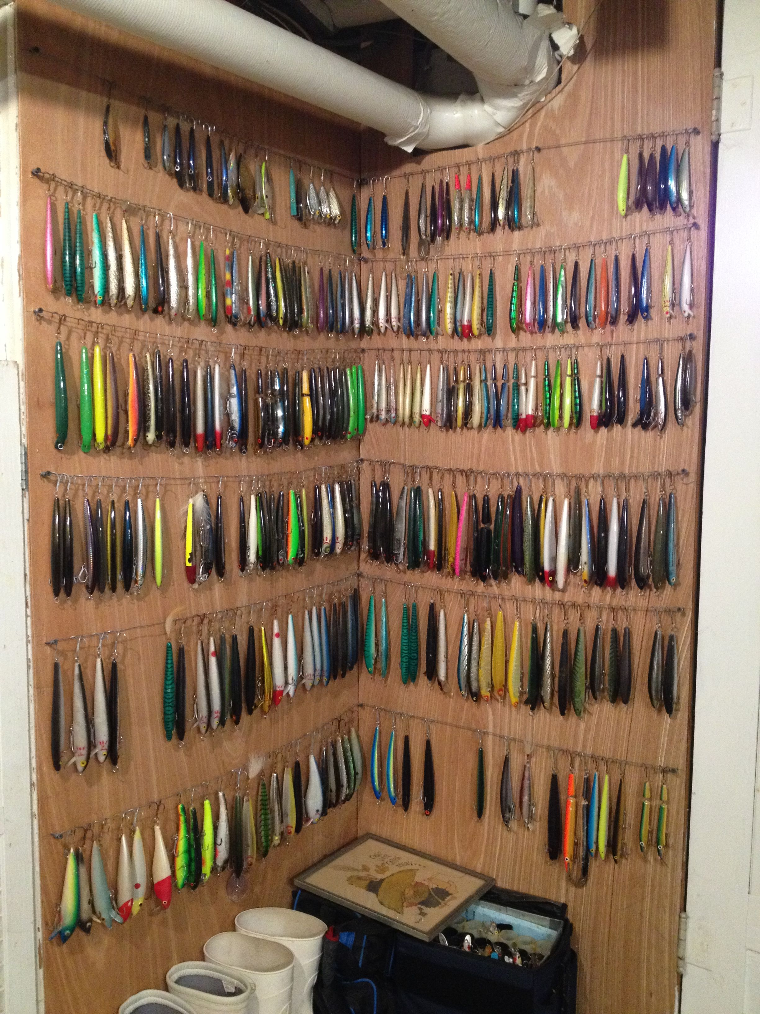 Fishing tackle storage lets see your mancave setups for Fishing equipment stores