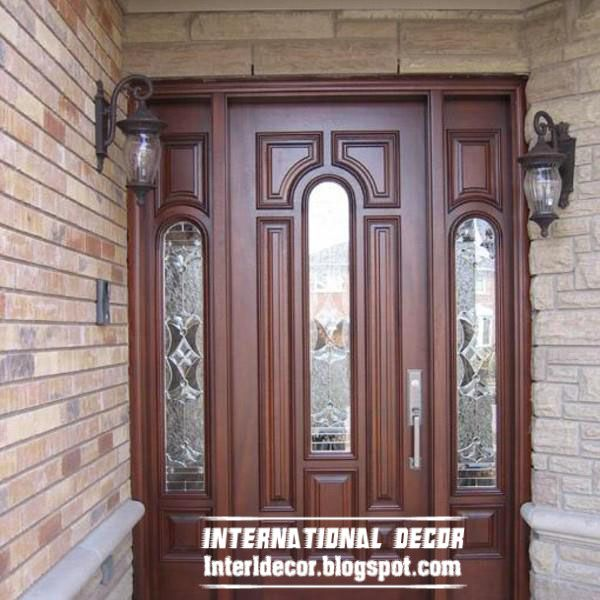 Classic Wood Doors Designs, Colors, Wood Doors With Glass Sides .