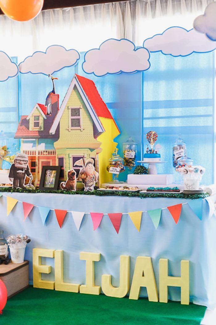 Pixar UP inspired highchair banner  pixar Up 1st birthday  pixar UP first birthday  pixar Up smash cake