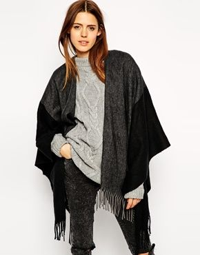 Color block black cape Shop the #blackfriday sale now #asos 30% off code TGIBF til 11.30