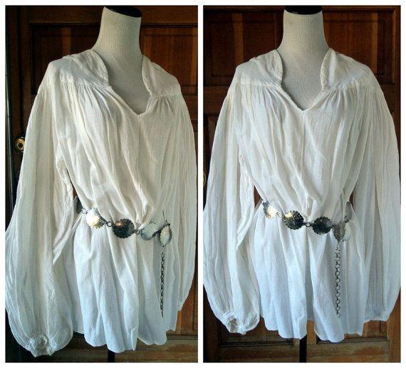 67fd3d421bd6d7 Vintage Poet Shirt Pirate Balloon Sleeves by caligodessvintage Renaissance  Skirt, Poet Shirt, Pirate Shirts