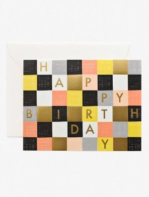 Checkered Birthday Card -