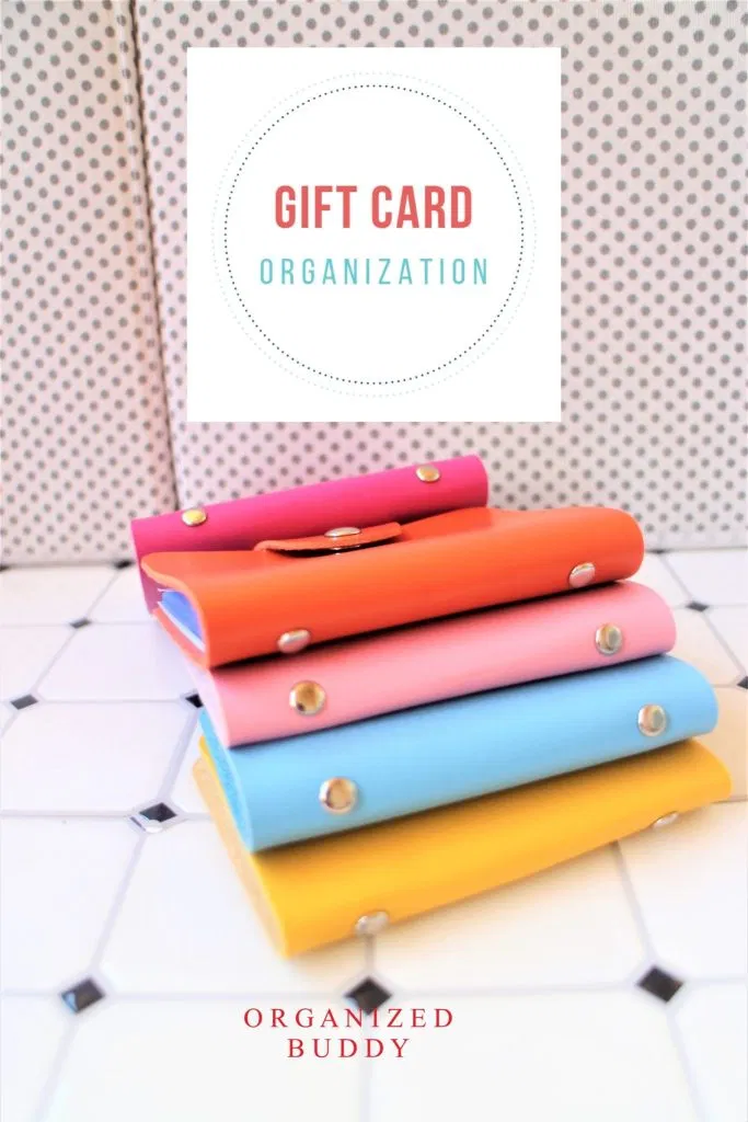 How To Organize Gift Cards And Keep Track Of Balances Organization Gifts Gift Card Cards