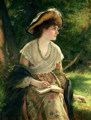 Woman Reading Robert James Gordon 1845 1932 Peintre Anglais