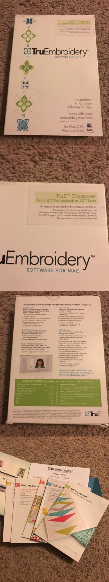 Digitizing Software 71197 Tru E Crossover Embroidery Software For