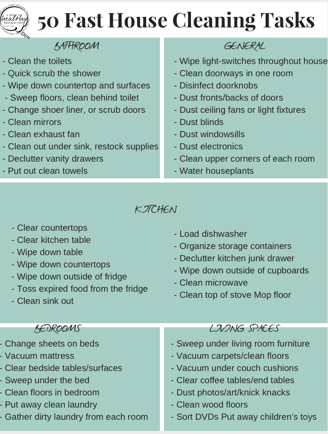 Cleaning Is A Job We Want To Do As Quickly Possible Here Are 50 Super Fast House Tasks That Take 10 Minutes Or Less