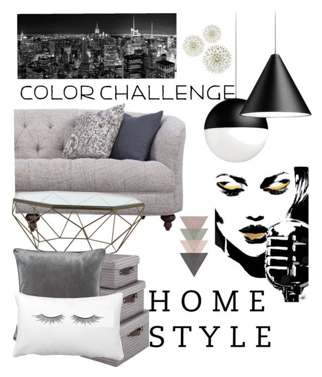 """""""Untitled #143"""" by nguyetphung ❤ liked on Polyvore featuring interior, interiors, interior design, home, home decor, interior decorating, Jayson Home, M&Co, colorchallenge and grayandpeach"""
