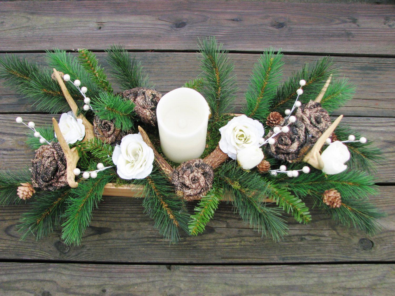Deer antler centerpiece crafts pinterest