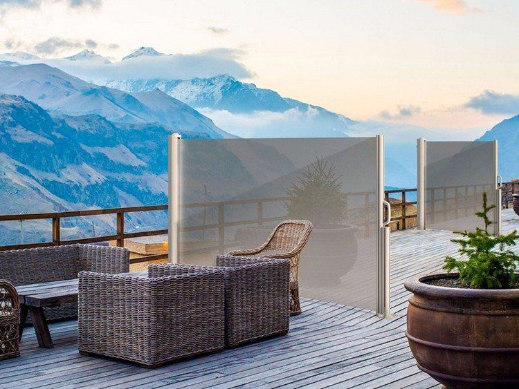 brise-vue rétractable design semi transparent, meubles de jardin en ...