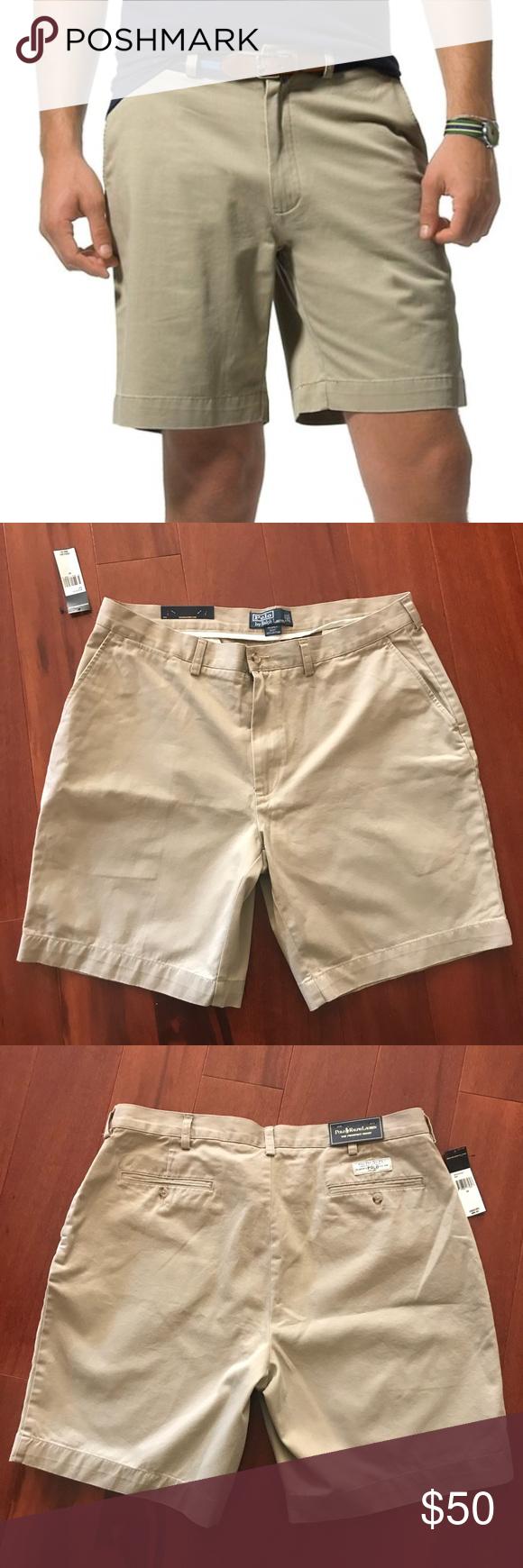 Ralph Men's Polo Shorts By Prospect Lauren Nwt Khaki j5AR4L