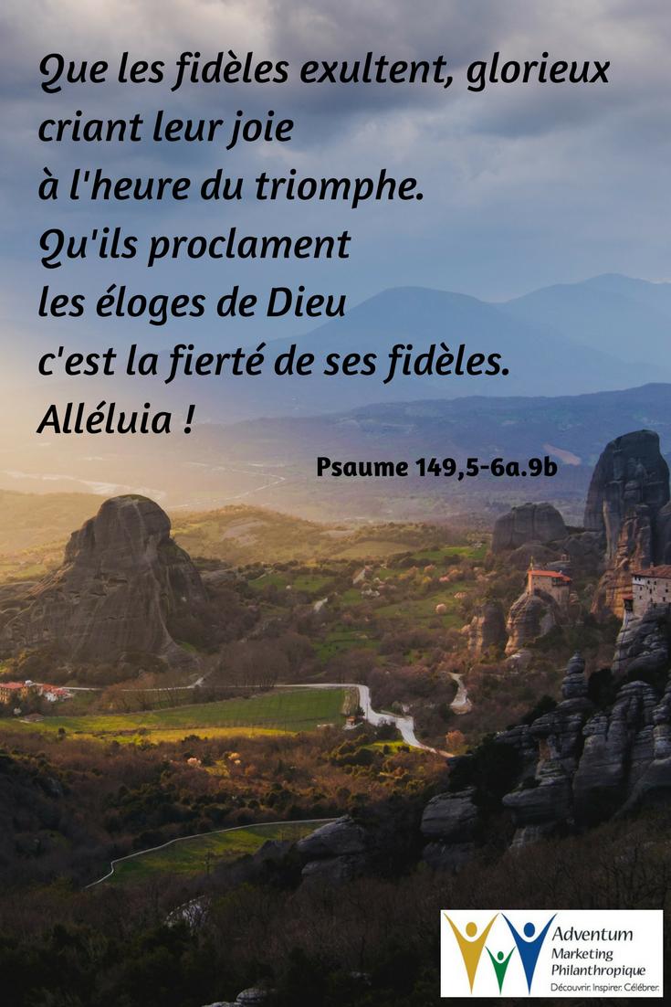 22 mai 2017 – Psaume 149,5-6a.9b | Psaumes, Texte biblique, Biblique