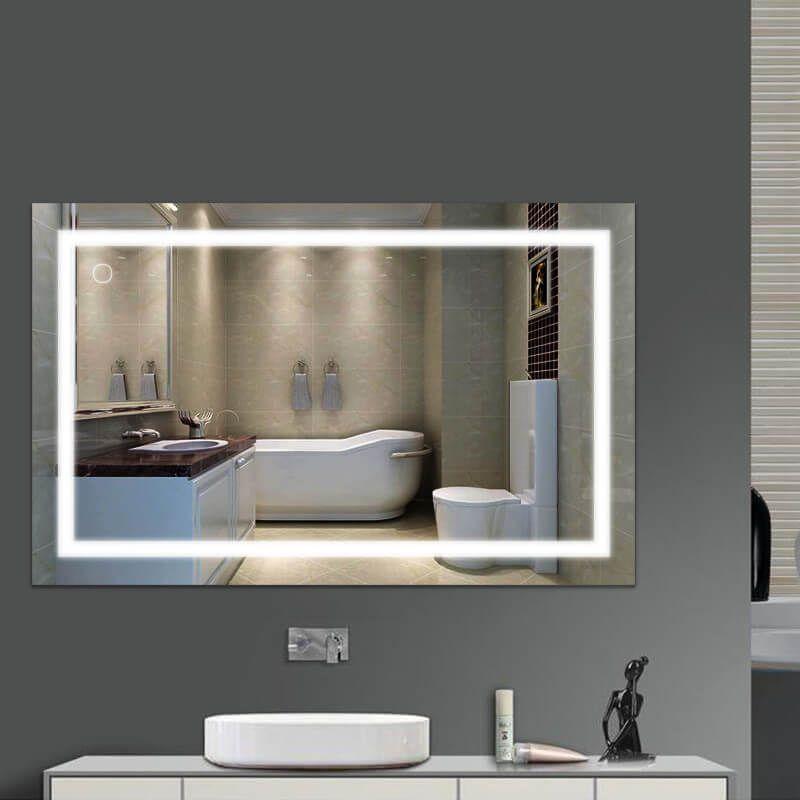 Miroir Avec Led Integre Lumiere Integree Duree Illimitee Ultra Economique Ideal Ce Miroir Led Devi Miroir Led Miroir Salle De Bain Miroir De Salle De Bain