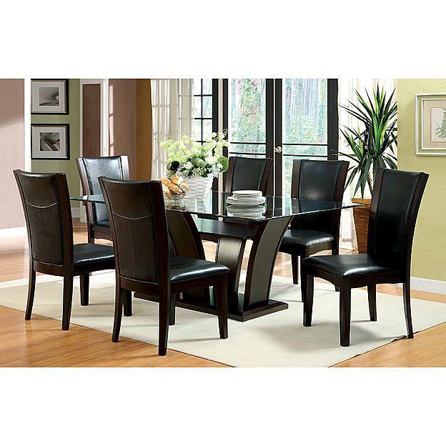 Furniture of America Lissandra Pedestal Dining Table