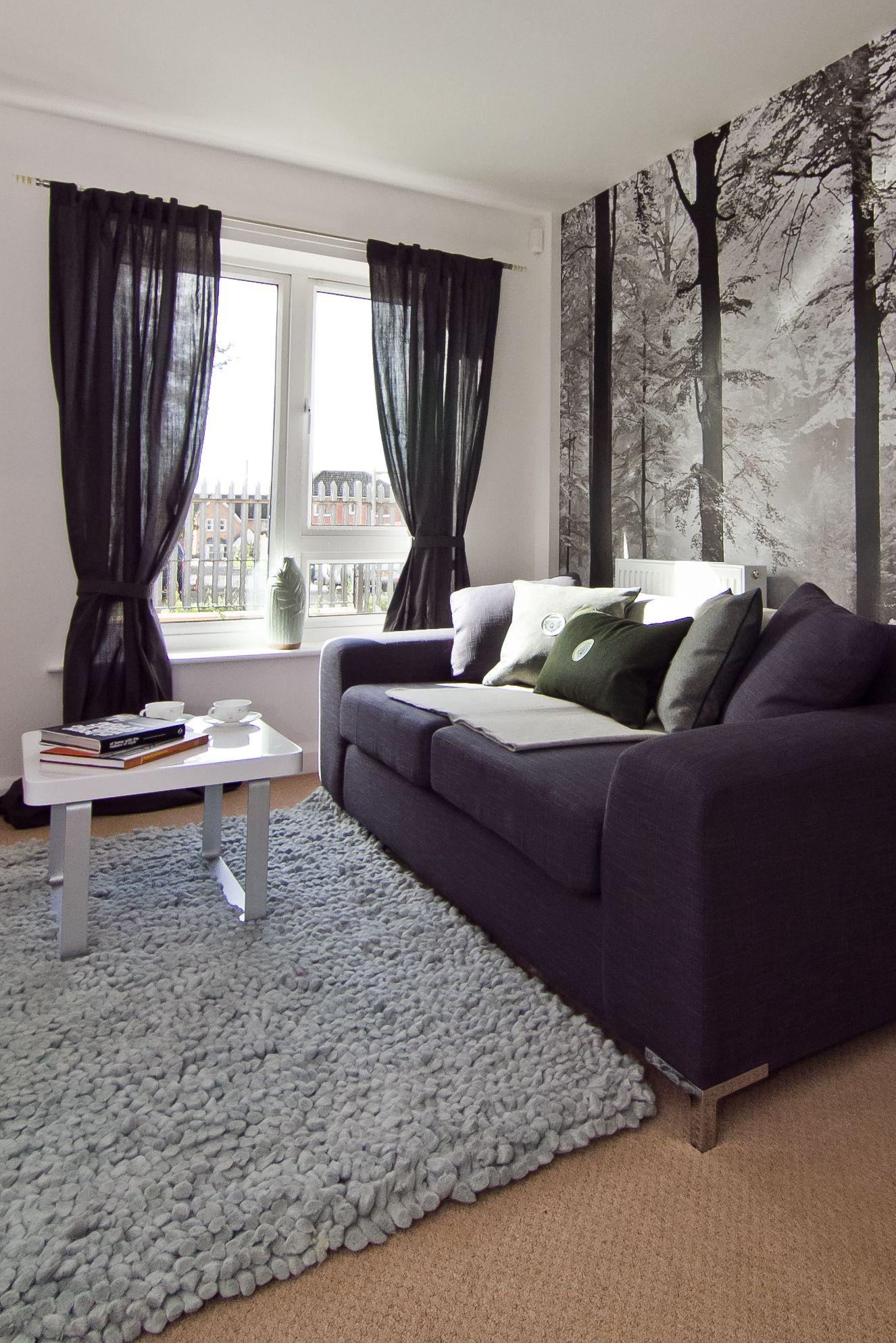 Schillernde Grau Wohnzimmer Interieur Farbschema Design Möglicherweise  Erkannt, Neben Key Phrasen Vor Allem,