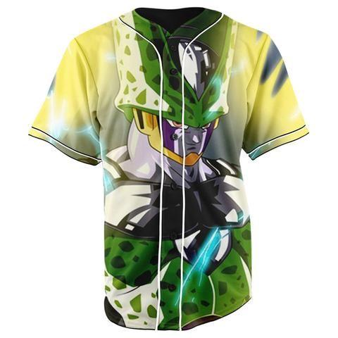 73a2d2b23 Cell Dragon Ball Z Button Up Baseball Jersey - JAKKOUTTHEBXX - JAKKOU††HEBXX