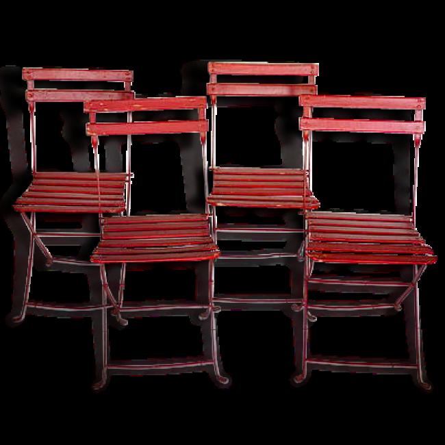Lot de 4 chaises de jardin anciennes | + Une déco de mariage ...