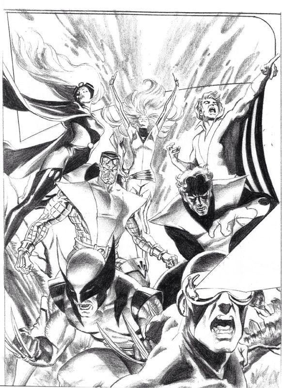 Ungoliantschilde — some penciled artwork by Alex Ross.