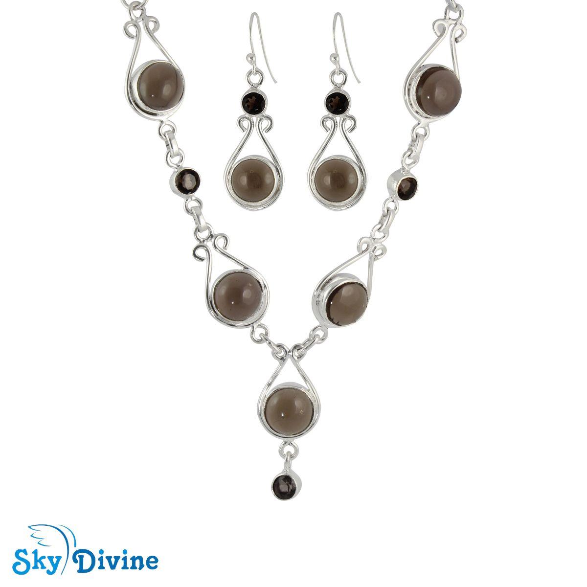 Sky Divine | Sterling Silver Smoky Quartz Set SDAST01 SkyDivine Jewelry, $178.94