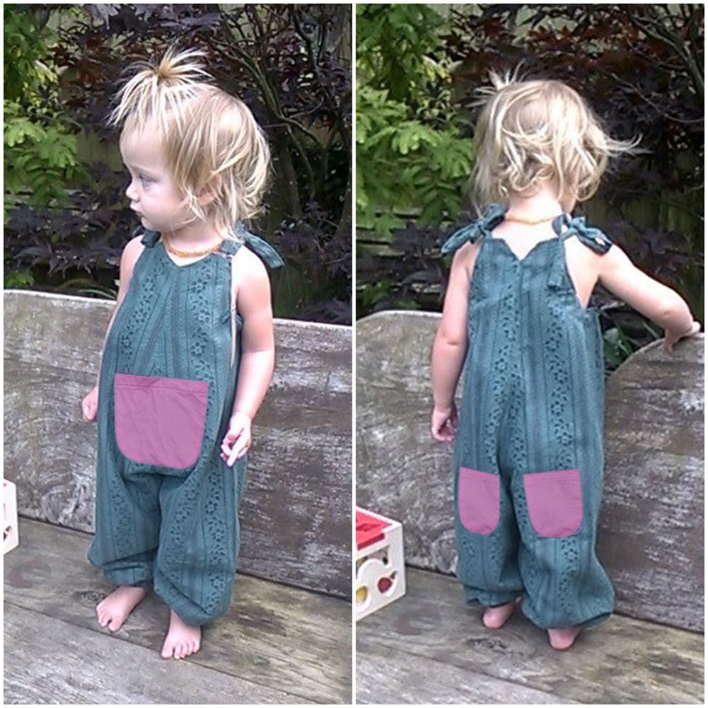 dad01f63d Toddler Kids Baby Girls Summer Strap Romper Jumpsuit Harem Pants Outfits  Clothes
