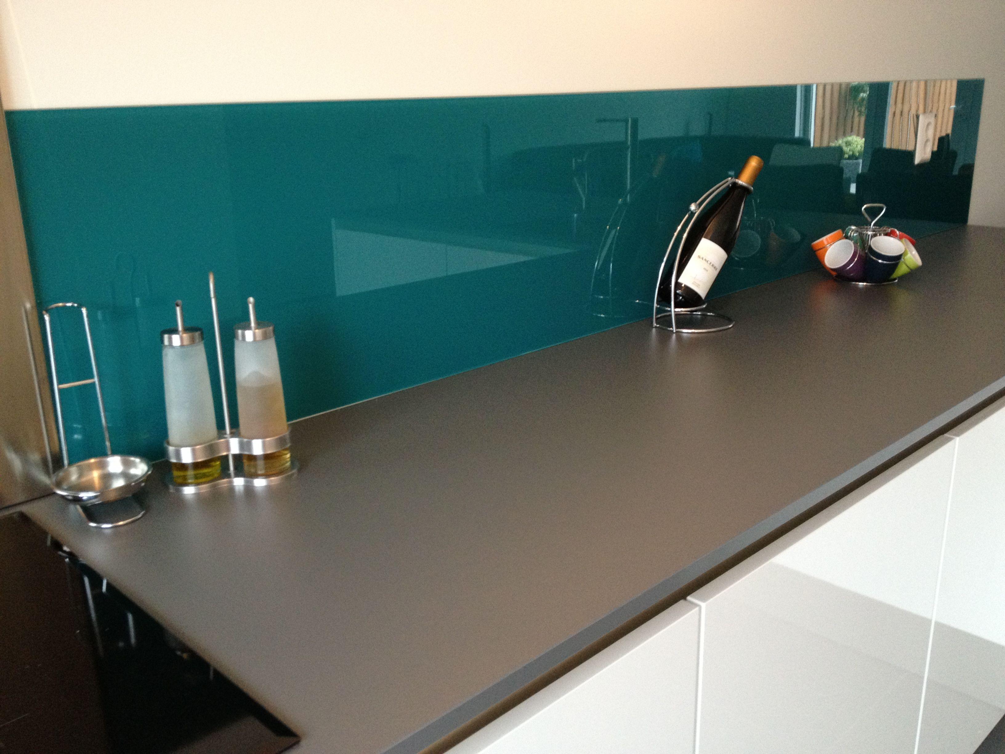 Keukenachterwand van van 6mm hittebestendig for Hittebestendig glas