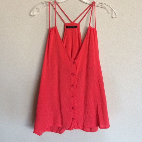 Foreign Exchange Red Tank top Very cute straps with semi open back, only worn twice Foreign Exchange Tops Tank Tops