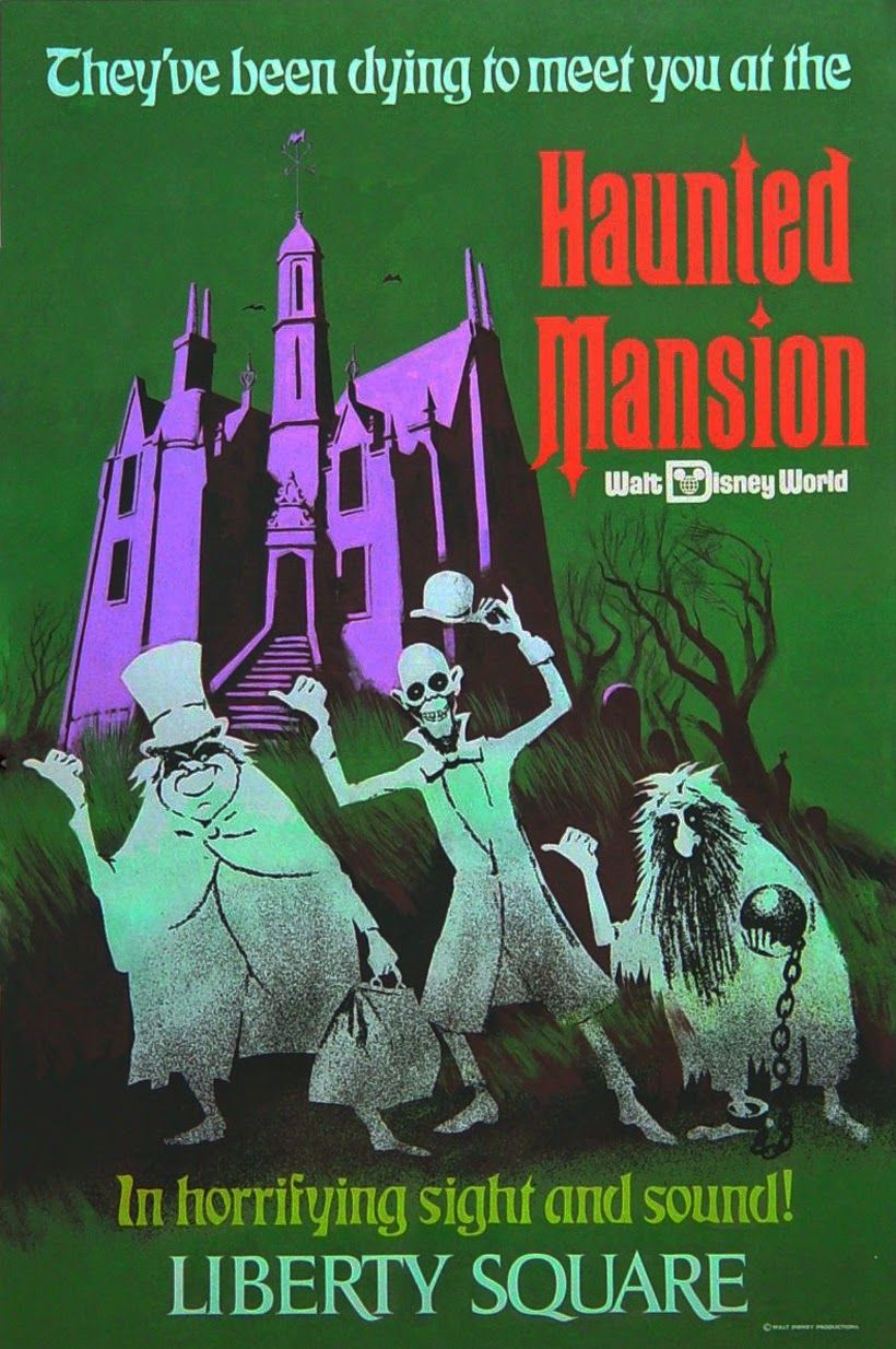 Haunted Mansion Poster Disney Attraction Poster Disney Poster