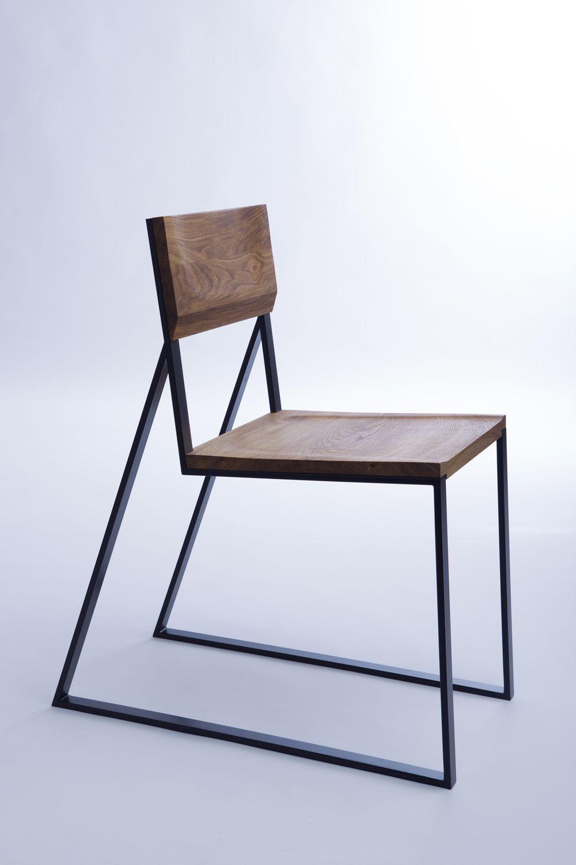modern wood and metal furniture. K1 / CHAIR Materials: Oak Wood, Steel - Moskou More Modern Wood And Metal Furniture W