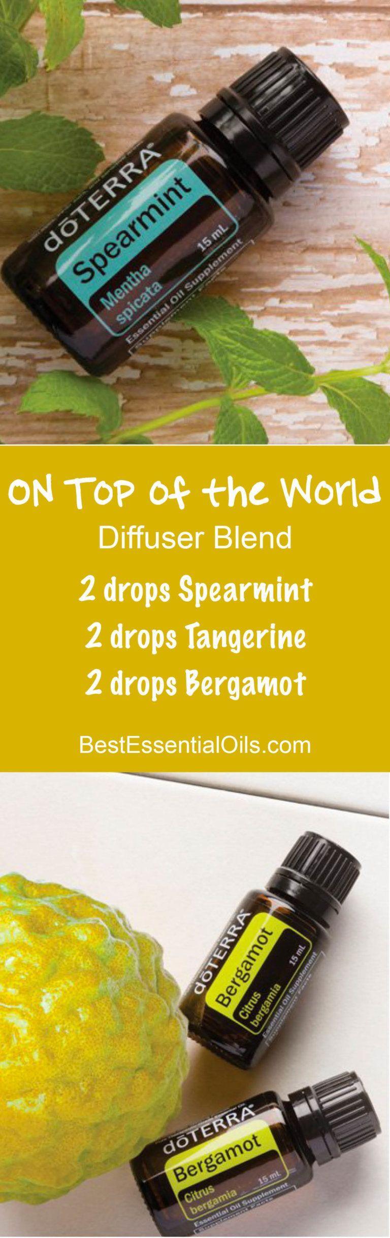 doTERRA Uplifting Diffuser Blends   Spearmint essential oil, Tangerine essential oil, Best essential oils