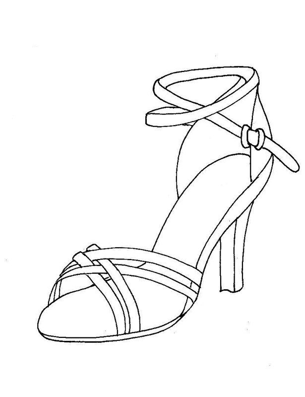Fashion Shoe Coloring Page Closet Rooms Fashion Design