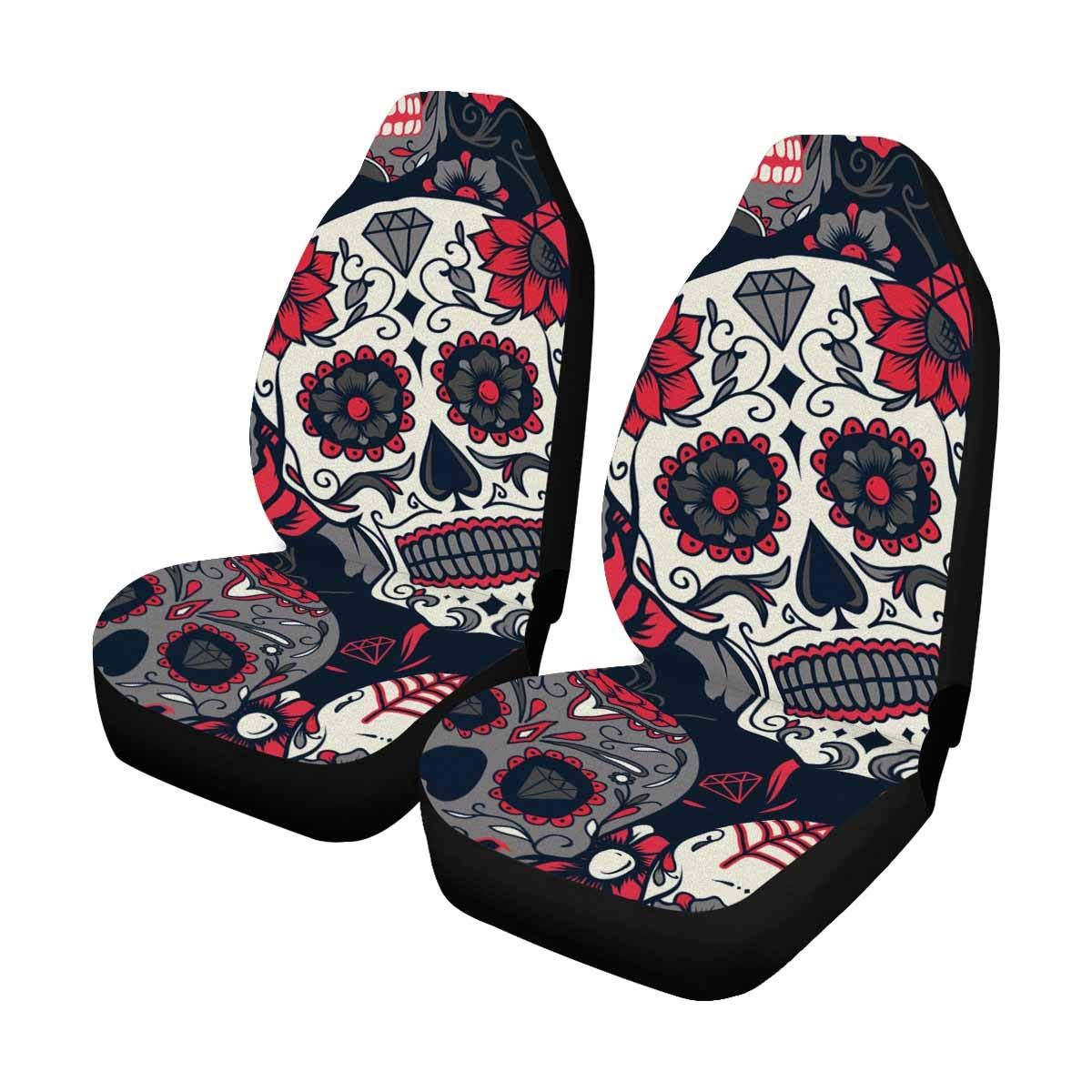 Surprising Interestprint Day Of The Dead Sugar Skull With Floral Auto Evergreenethics Interior Chair Design Evergreenethicsorg