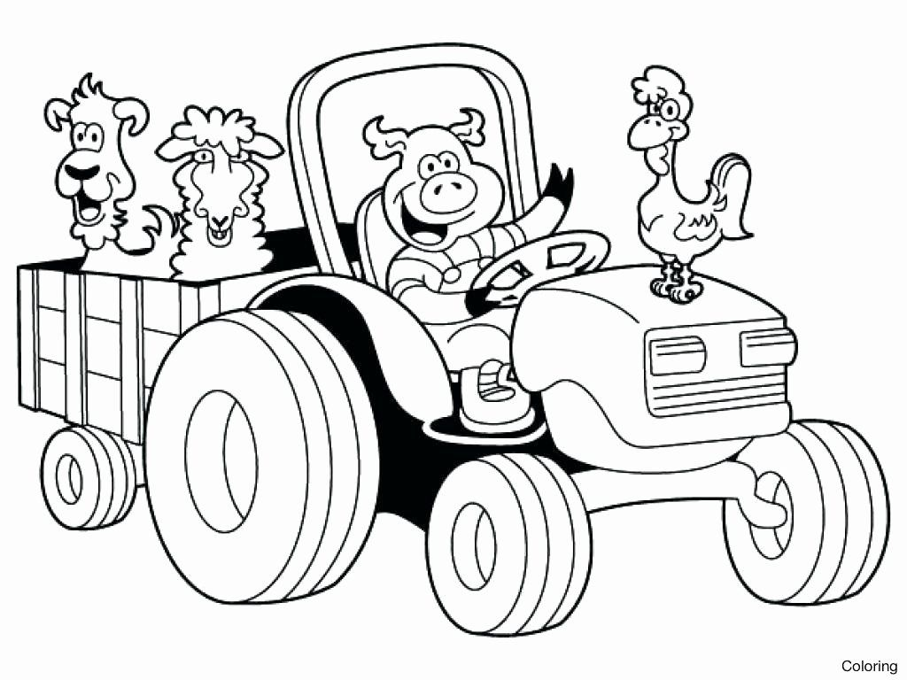 Barn With Animals Coloring Pages Di