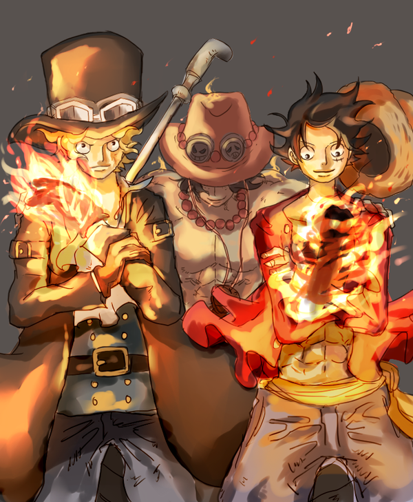 Sabo, Ace, and Luffy _One Piece | Rufy, Anime maschio ...