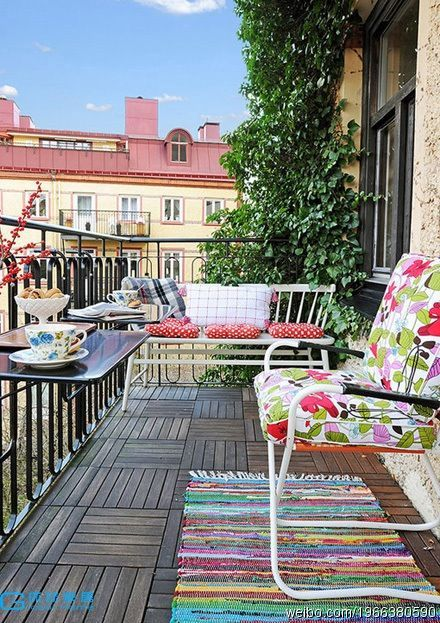 balcony ideas...glammed up camping chair | balcony living ...