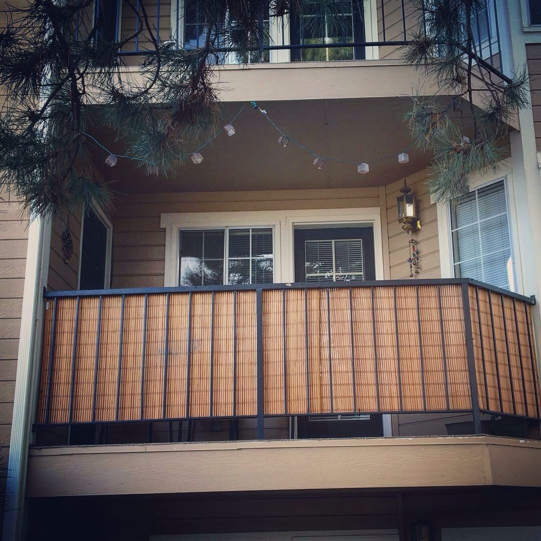 Bamboo blinds for balcony privacy - genius Darian and Kyle ...