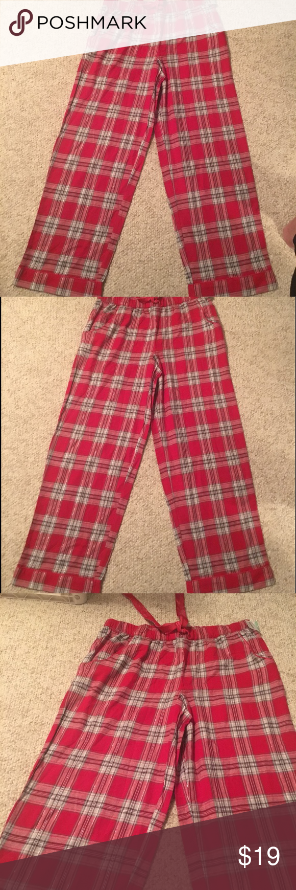 Red flannel nightgown  Simply Styled Petite sz m Flannel sleep pants NWT NWT  My Posh