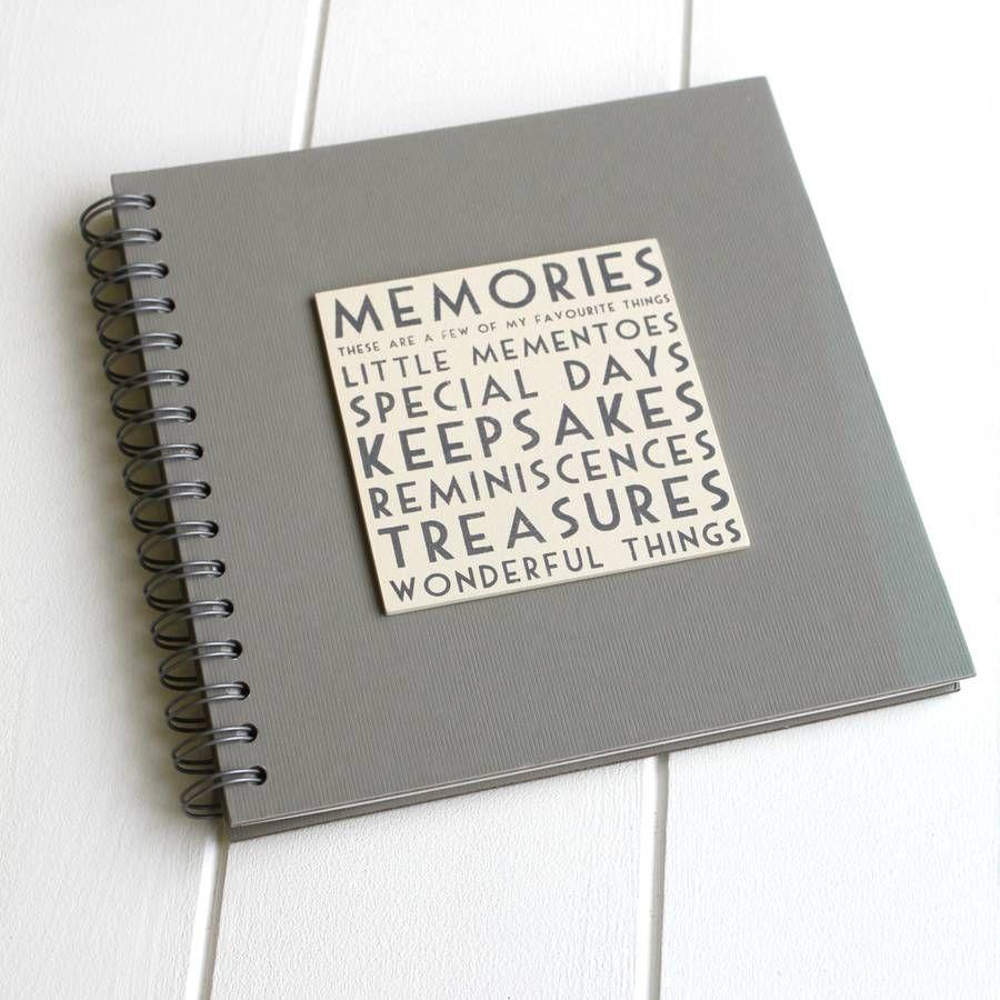 Memories Book/ Album from notonthehighstreet.com