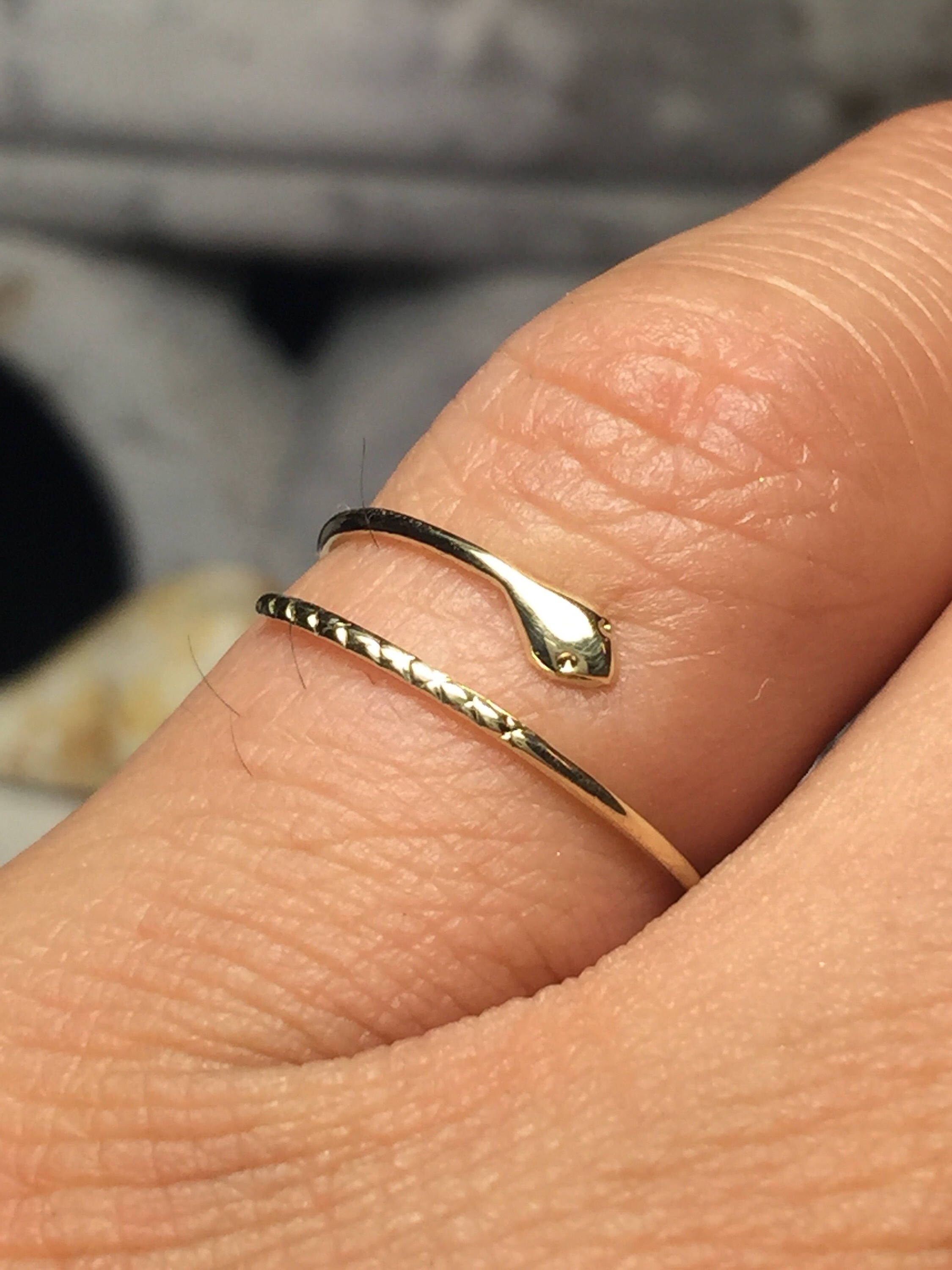 Sale 10k 14k Tiny Snake Rings Midi Ring Gold Dainty Snake Etsy Gold Cuff Ring Midi Rings Gold Thin Gold Rings