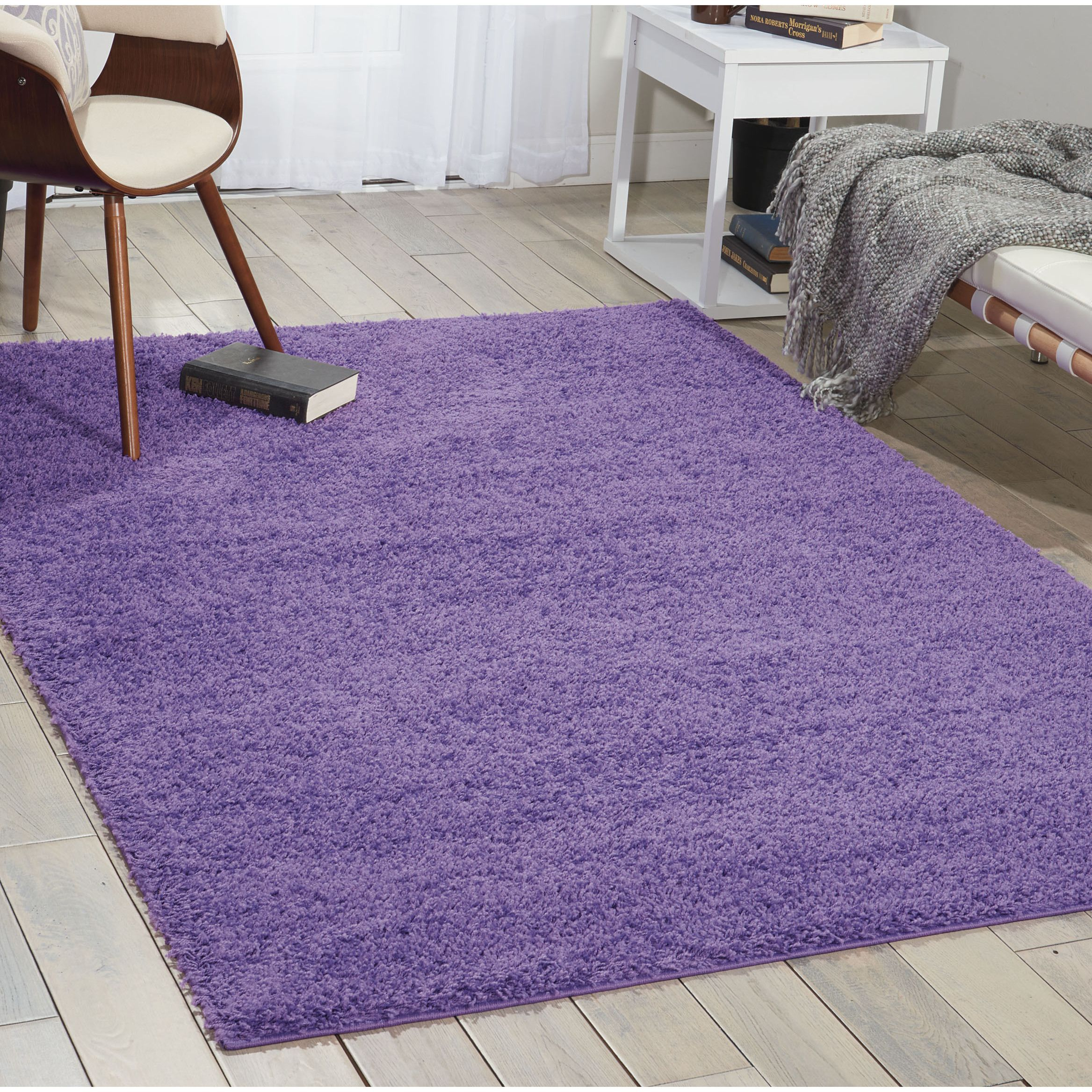 nourison bonita light violet shag area rug x x purple size x solid