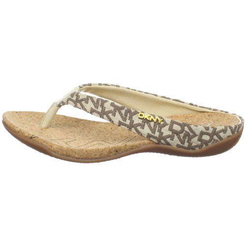 6504c713819 DKNY Women s Sarasota Thong Sandal - Gold