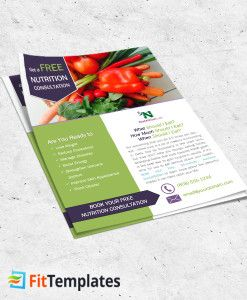 Nutritionist Flyer Template For Health Coach Weight Loss Programs - Nutrition brochure template